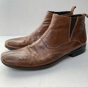 Bacco Bucci Made In Italy Western Chelsea Boots